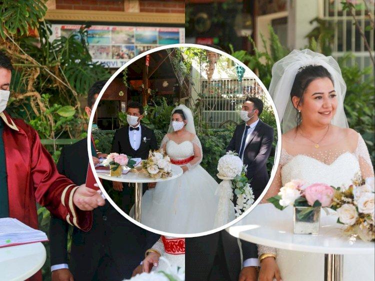 Bodrum'da Yeni Normal Dönem Nikahları Başladı