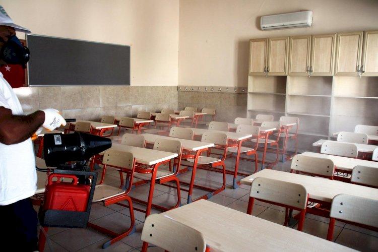 Sınav Salonları Dezenfekte Ediliyor