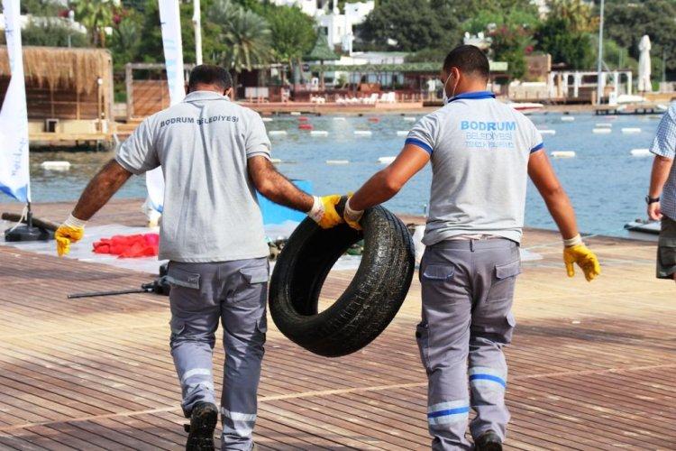 Türkbükü'nde Sezon Sonu Denizdibi Temizliği Gerçekleştirildi