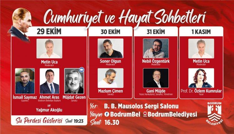 """Cumhuriyet'in 97'nci Yılında Bodrum'da """"Cumhuriyet Ve Hayat Sohbetleri"""""""