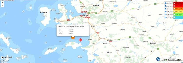 İzmir'deki Deprem! Bodrum'da da Etkili Hissedildi