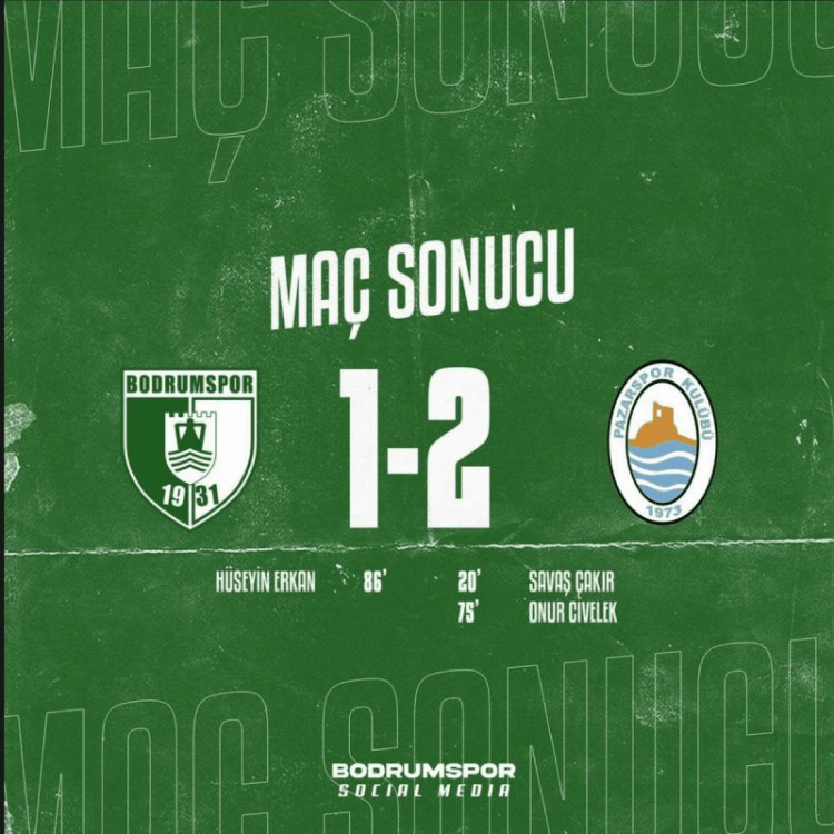 Bodrumspor-Pazarspor: 1-2