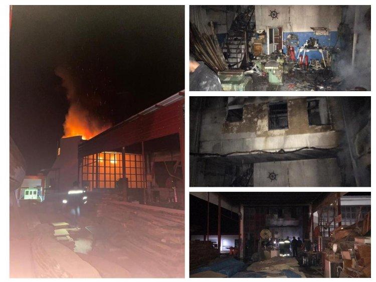 İşyerinde Çıkan Yangında 1 Kişi Hayatını Kaybetti