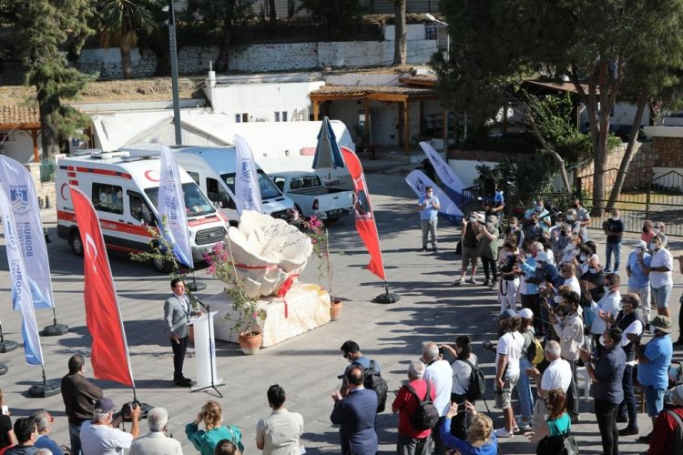 Bodrumlu Süngerciler Anısına Sünger Heykeli Açılışı Yapıldı