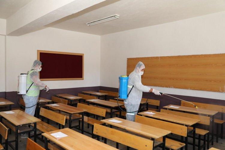LGS Öncesi Okulların Dezenfeksiyonları Yapıldı