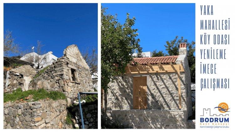 Yaka Mahallesi Köy Odası Yenileme İmece Çalışması Tamamlandı