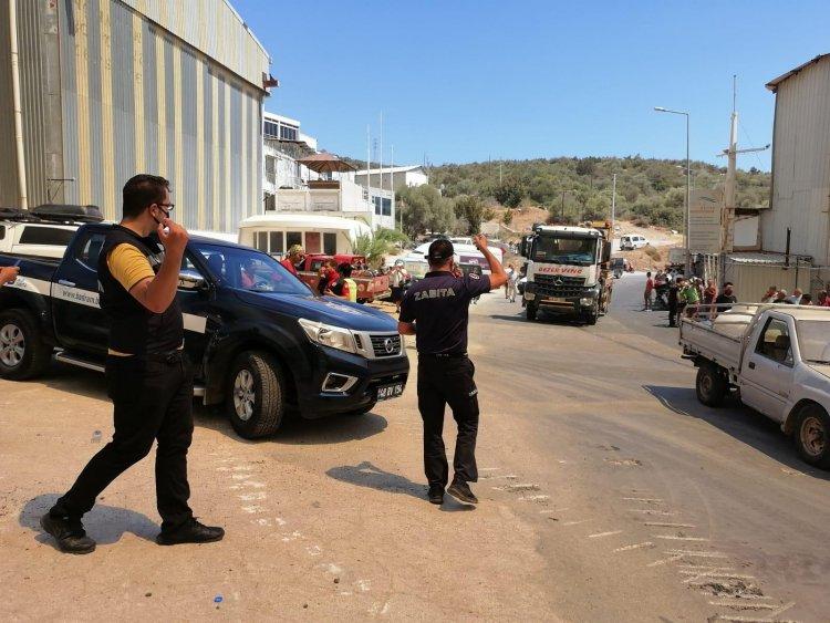 Bodrum Belediyesi Yangın Yerinde, Mücadele Sürüyor
