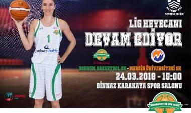 Kırçiçeği Bodrum Basket Takımı Mersin Üniversitesini Misafir Edecek