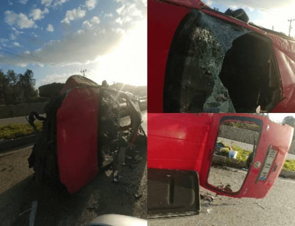 Aracın Kontrolünü Kaybetti Kaza Yaptı